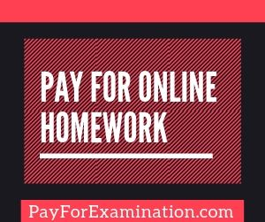 Pay For Online Homework
